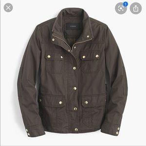 J Crew Downtown Field Utility Jacket Black Small